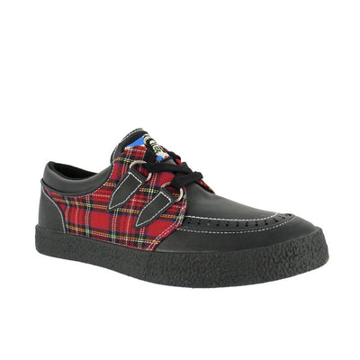 Draven Tartan Red Plaid Creepers Men's Shoes