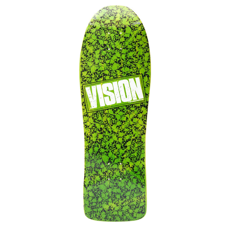 Vision Punk Skull Deck - Lime/White