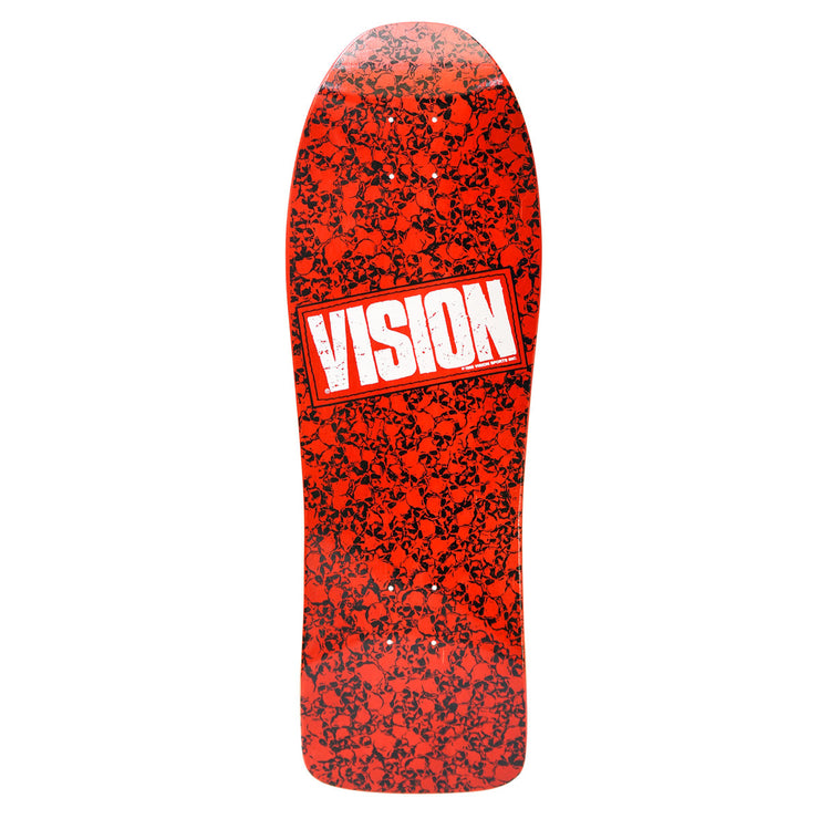 Vision Punk Skull Deck - Red/White