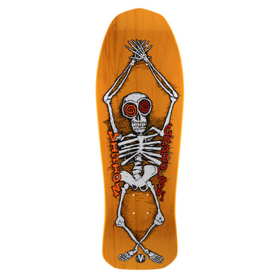 "Vision Tom Groholski Skeleton Modern Concave Deck - 10.25""x30"" - Yellow"