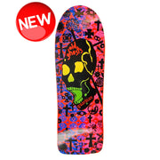 "Vision Old Ghost Modern Concave Deck - 10""x30.25"" - Red/Purple"