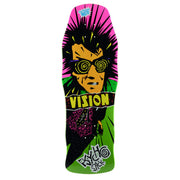 "Vision Original Psycho Stick Deck - 10""x30"" - Green"