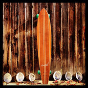 "Koastal Wave Dancer - 56"" Longboard Cruiser Skateboard - Complete"