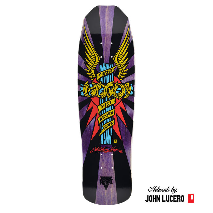 "Wings - Purple Bottom Hosoi Skateboards Hosoi Wings Deck– 9""x32.25""- Purple"