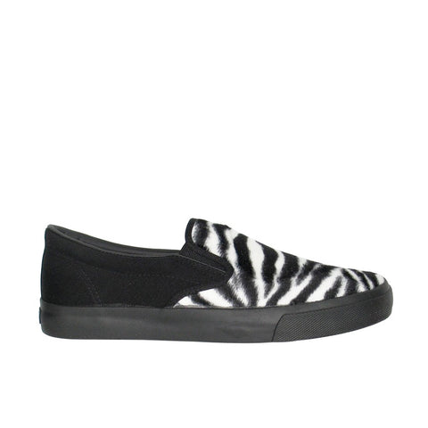Draven Zebra Fur Slip-Ons Men's Shoes