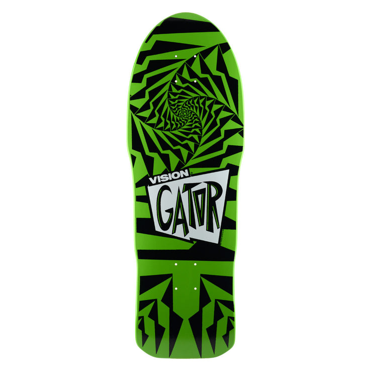 "Vision Gator II Deck - 10.25""x29.75""- Green/Black"