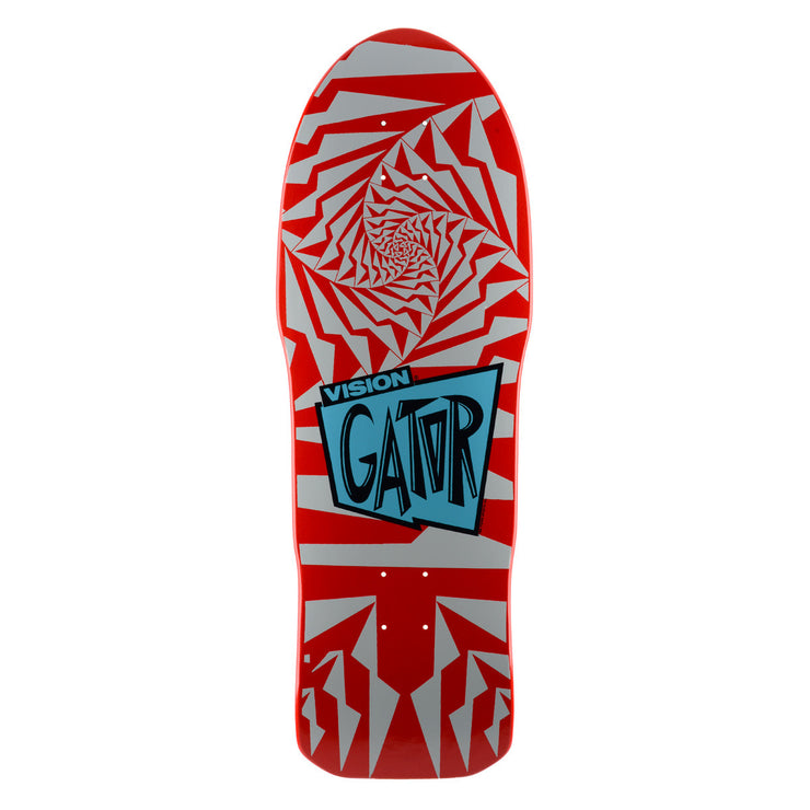 "Vision Gator II Deck - 10.25""x29.75""- Red/Silver"