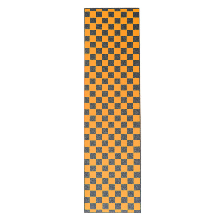 Orange Checkered Griptape Sheet 9x33