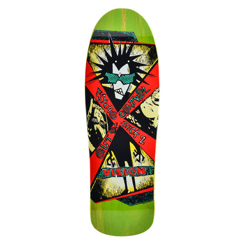 "Vision Psycho Stick 2 Deck - 10""x31.75""- Lime"