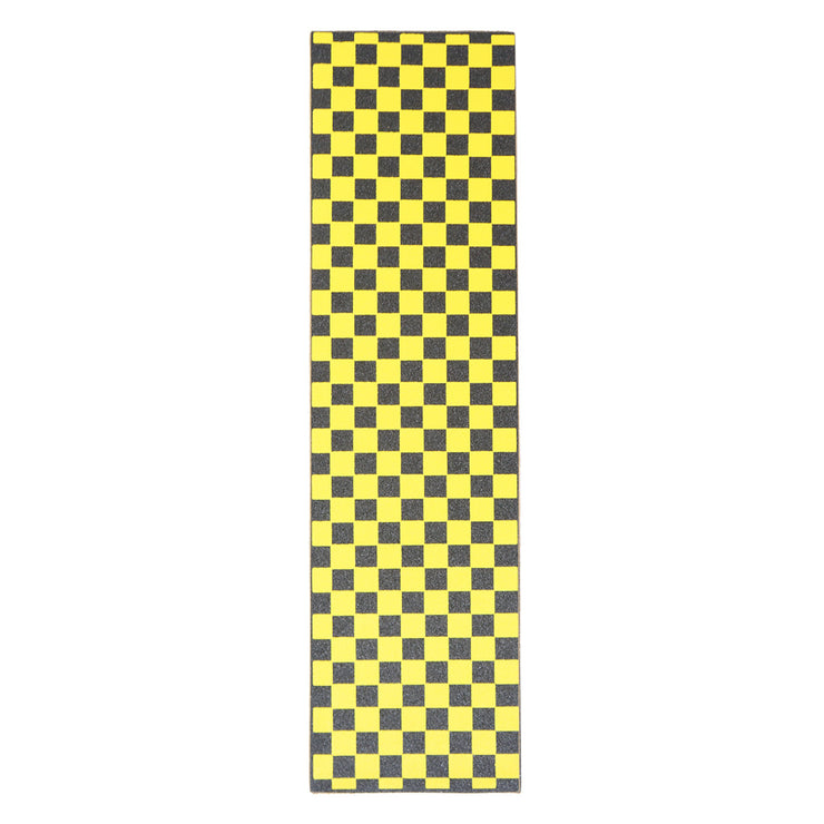 Yellow Checkered Griptape Sheet 9x33