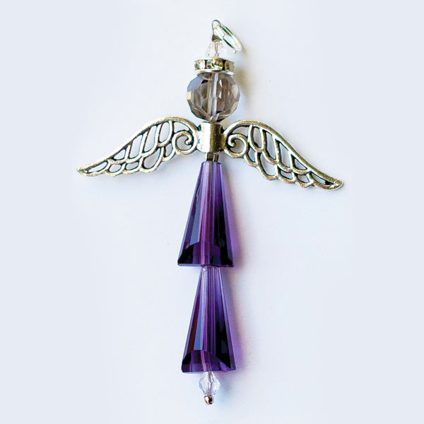 Crystal Angel:  February Amethyst, For Protection and Healing