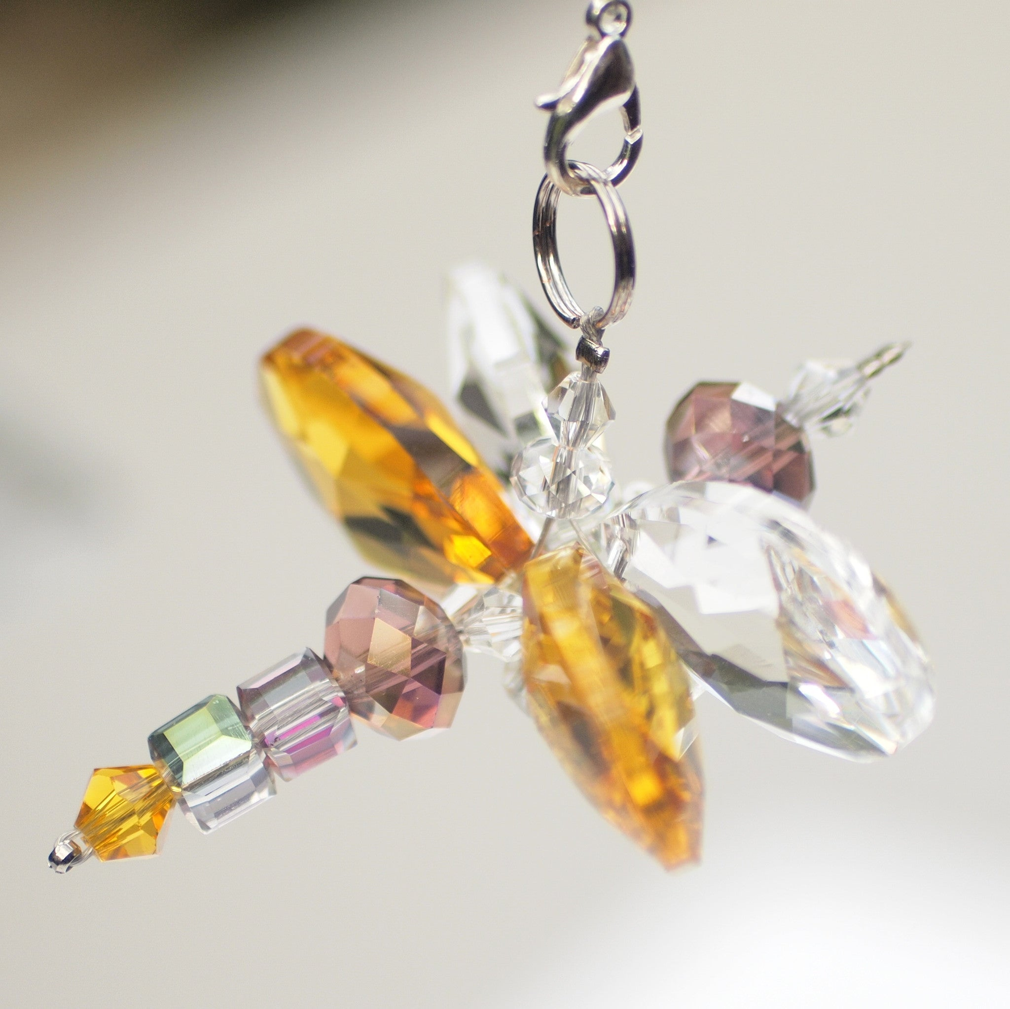 Crystal Figurine- Butterfly Yellow
