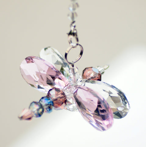 Crystal Dragonfly Pink