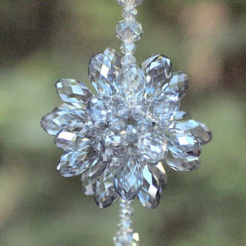 Crystal Bursting Flower- Blue