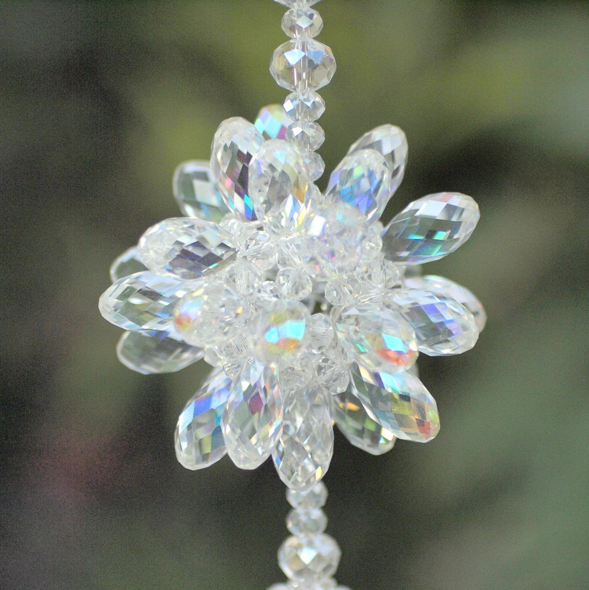 Crystal Bursting Flower- Iridescent Clear