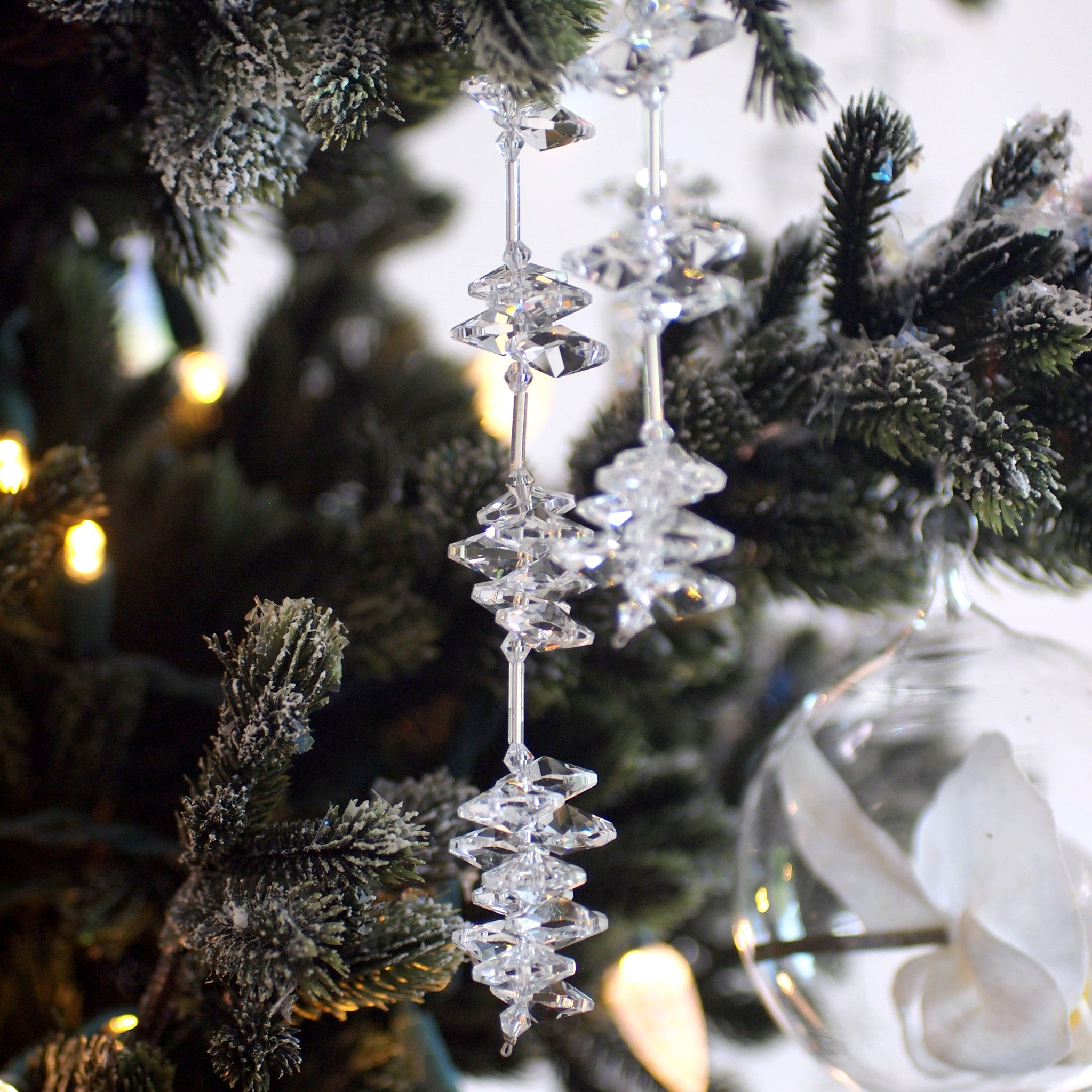 Hanging Crystal  Ice Drops 5""