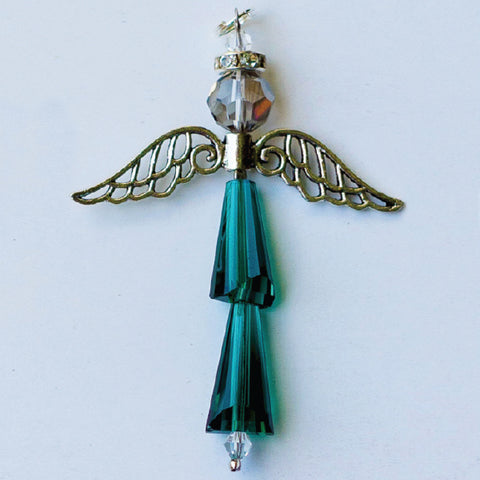 Crystal Angel:  May Emerald, For Protection and Healing