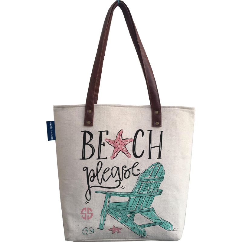 Beach Please Canvas Bag by Simply Southern