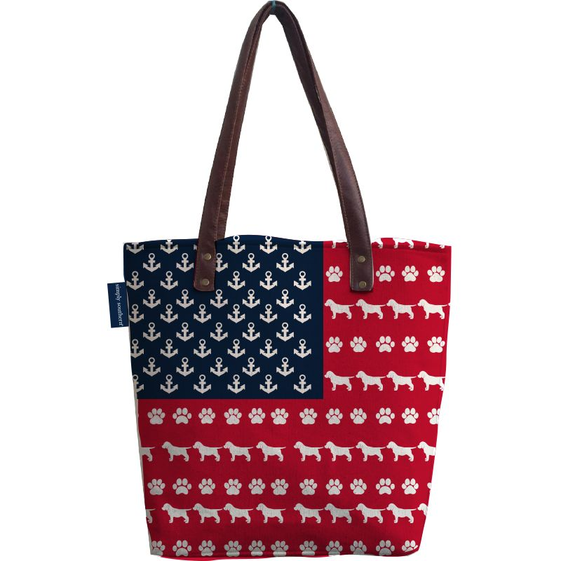 Pup USA Canvas Bag by Simply Southern