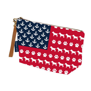 Pup USA Wristlet Canvas Pouch by Simply Southern