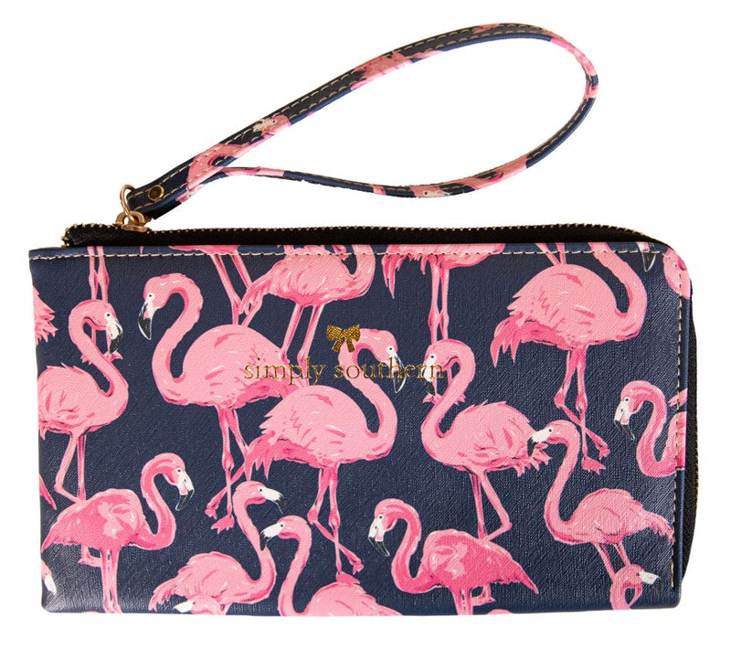Flamingo Wristlet by Simply Southern