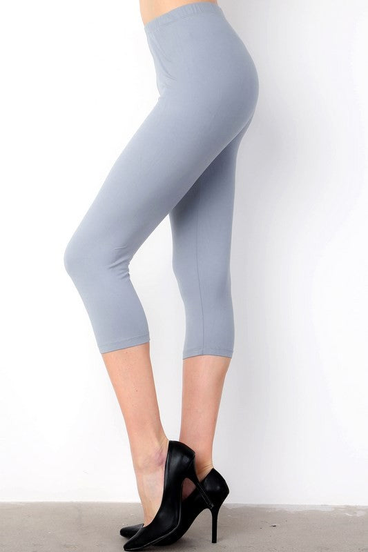 Light Grey Capri Leggings (One Size 0-14)