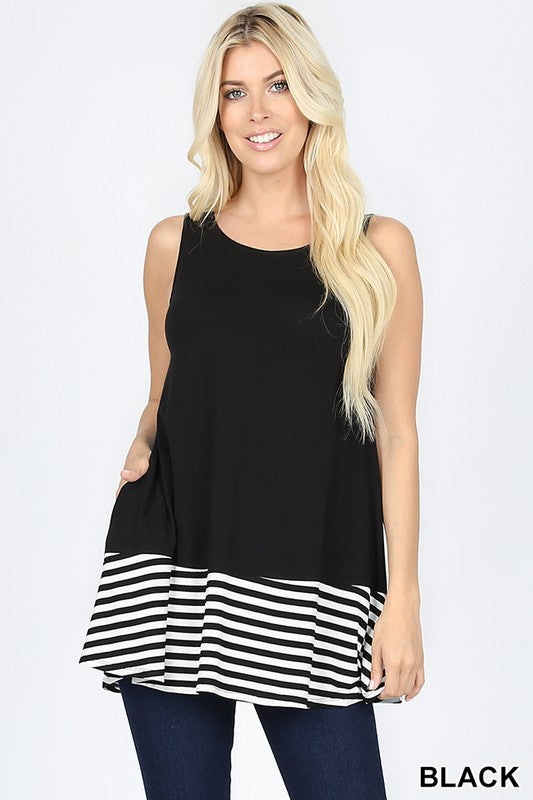 Ahoy There Top Color Black