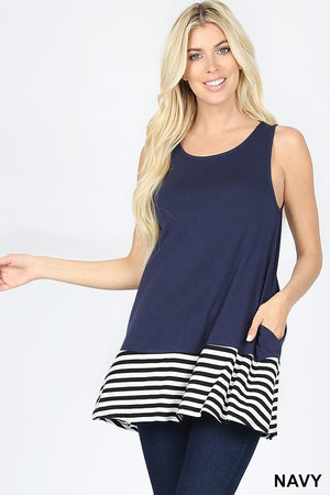 Ahoy There Top Color Navy