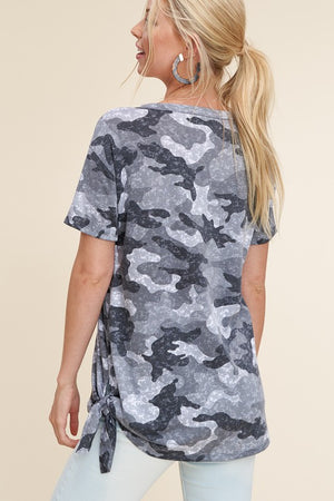 Shades Of Grey Camo Top
