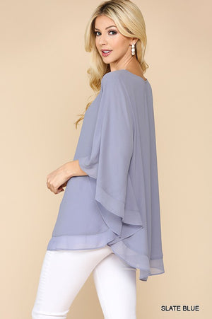 Slate Blue Flowing Top