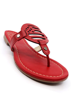 Stars & Stripes Sandal- Color Red