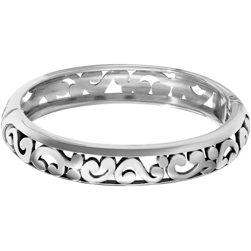 Contempo Medium Hinged Bangle by Brighton