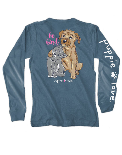 Be Kind Pup Long Sleeve Tee By Puppie Love (Pre-Order 2-3 Weeks)