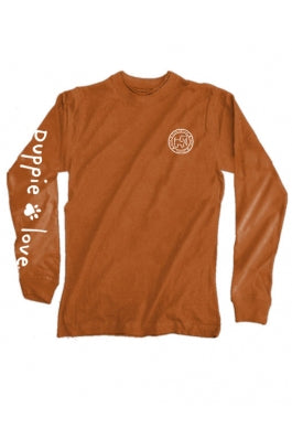 Pumpkin Fill Pup Long Sleeve Tee By Puppie Love (Pre-Order 2-3 Weeks)
