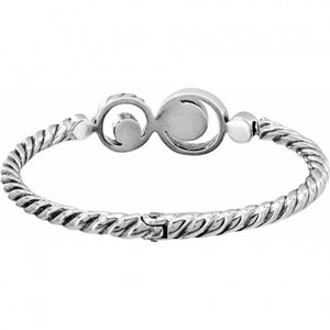 Halo Hinged Bangle by Brighton