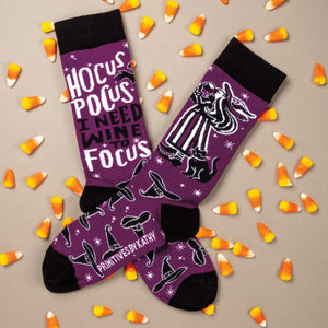 Hocus Pocus I Need Wine To Focus Socks
