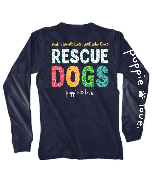 Small Town Girl Long Sleeve Tee By Puppie Love (Pre-Order 2-3 Weeks)
