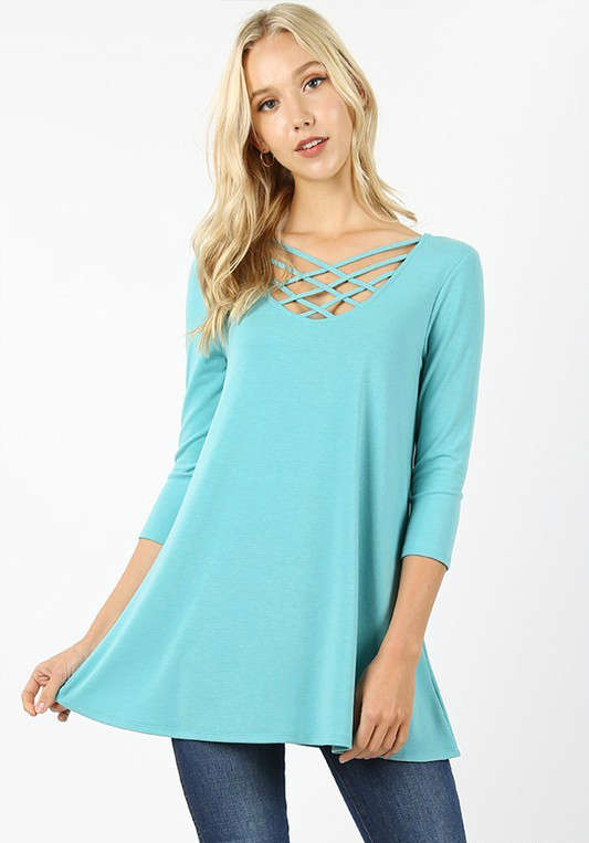 Cross My Heart Top Color Mint