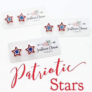 Patriotic Star Stud Earrings