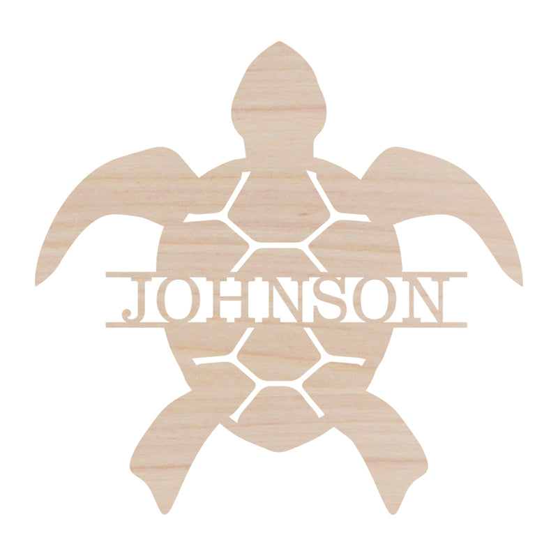 Turtle Name Design Wood Monogram (Lead Time 2 Weeks)