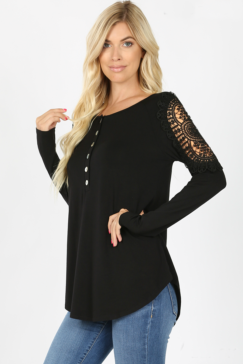 All In The Details Top Color Black