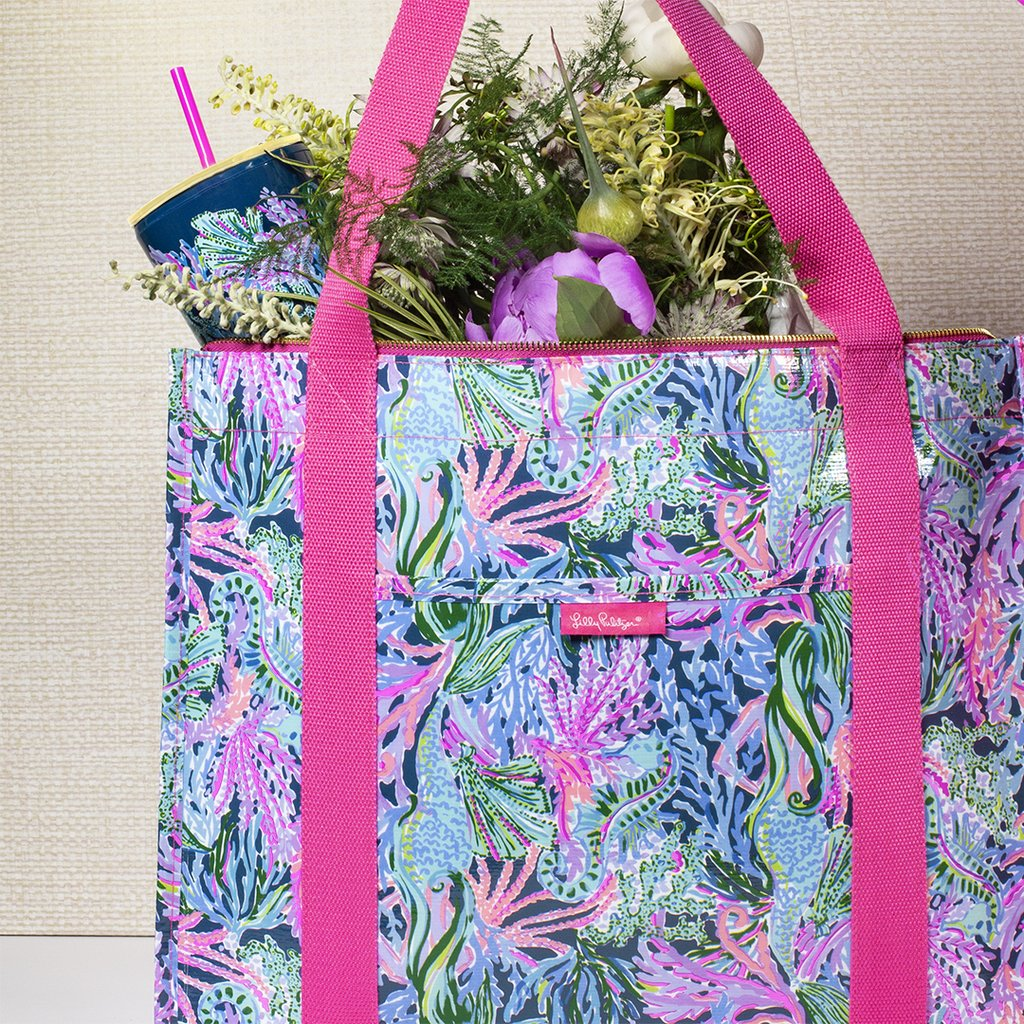 Lilly Pulitzer Insulated Market Shopper - Bringing Mermaid Back