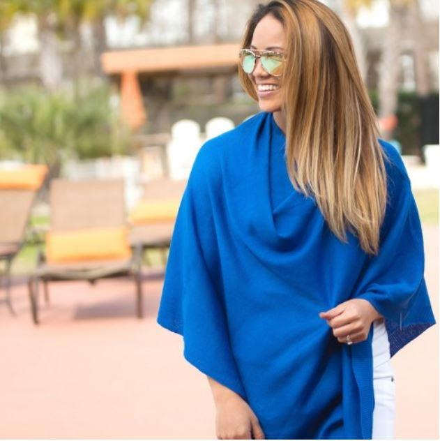 Royal Blue Chelsea Poncho (Lead Time 2 Weeks)