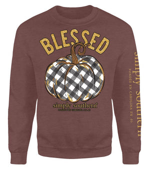 Blessed Pumpkin Crewneck Sweatshirt by Simply Southern