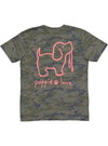 Camo Pup Short Sleeve Tee By Puppie Love (Pre-Order 2 Weeks)