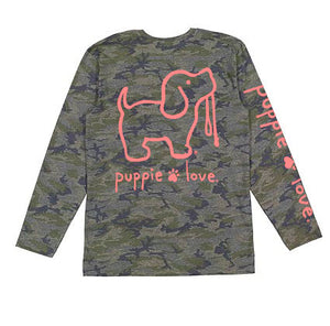 Camo Pup Pup Long Sleeve By Puppie Love (Pre-Order 2 Weeks)