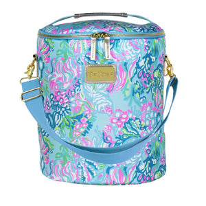 Lilly Pulitzer Beach Cooler - Aqua La Vista (Lead Time 2 Weeks)