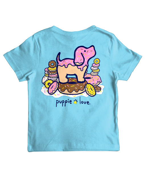 Youth Donut Pup Short Sleeve By Puppie Love (Pre-Order 2-3 Weeks)