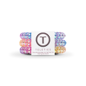 Teleties Eat Glitter For Breakfast- Large Hair Tie Pack Of 3