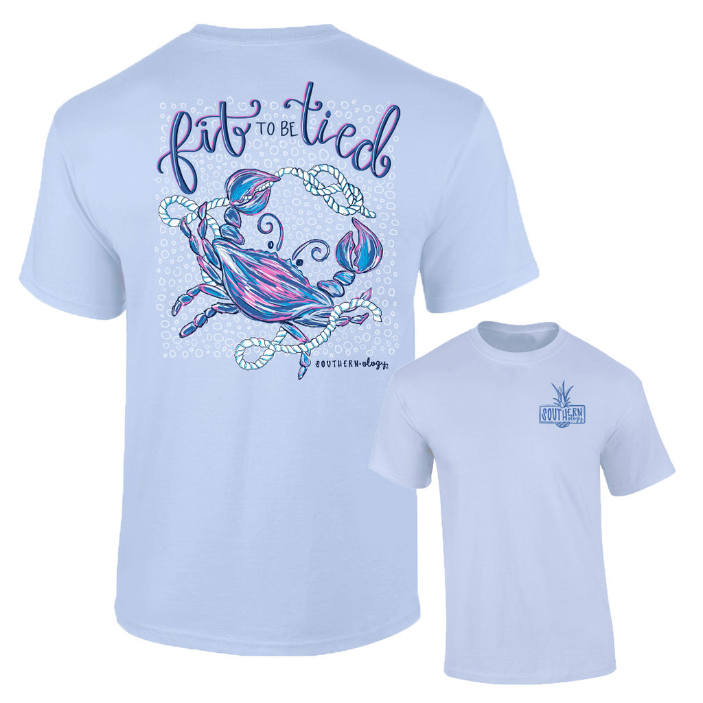 Southernology - Fit To Be Tied Crab Tee Shirt (Lead Time 2 Weeks)